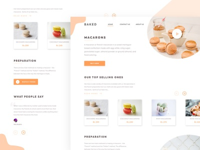 A Macaron Landing Page ux photo brown desktop web orange sketch uitrends