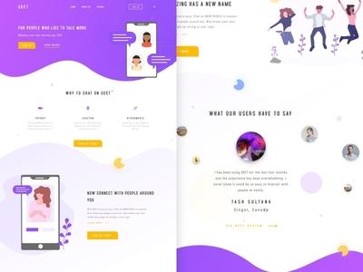 Geet Landing Page