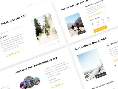 Trekking Detail Page icon uitrends typography ux desktop designer ui web design