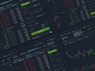 Delta.Exchange Trading Terminal ux crypto exchange inspiration blue gradient desktop designer ui web design