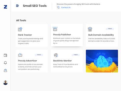 SEO Tools All tools Page inspiration minimal saas marketing illustration desktop ui web design seo
