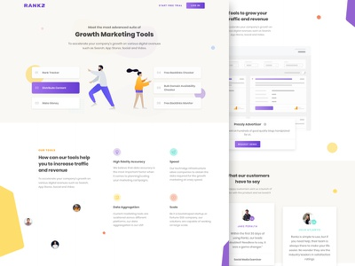 Rankz Concept Landing Page uitrends seo saas design ux illustration inspiration gradient ui desktop designer web design