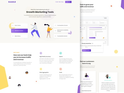 Rankz Concept Landing Page