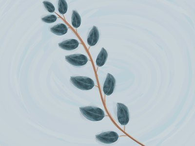 watercolor branch col colors custom brushes green nature leaf leaves branch art watercolor background