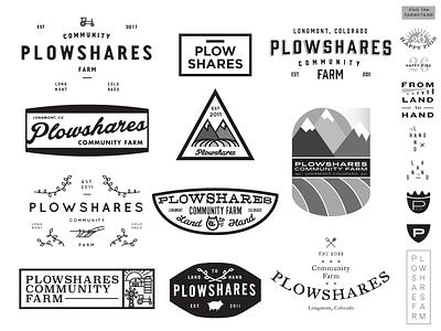 Plowshares Community Farm exploration john h ratajczak badges branding logos farms farming tractor pigs