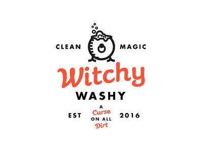 Witchy Washy john h ratajczak seal branding badge logo witchy