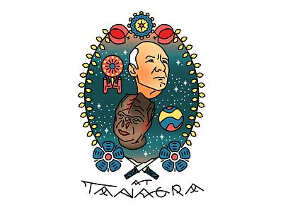 Temba, his arms wide star trek jlp picard jalad darmok american traditional tattoo