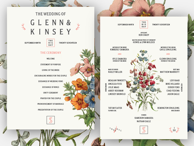 Wedding Programs floral wedding