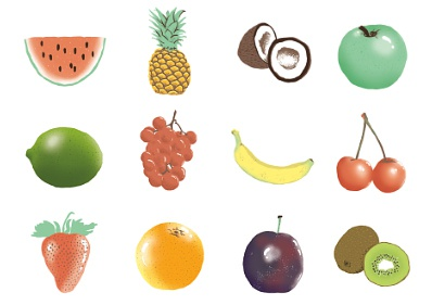 Water The Root, Enjoy The Fruit illustration drawing fruit layout postcard