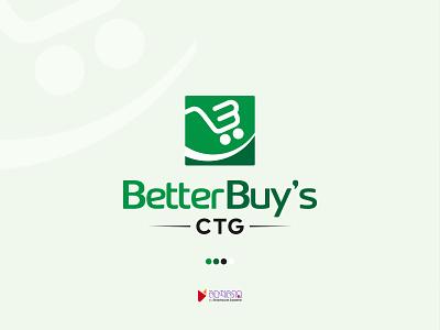 Better Buy's CTG online shop monogram symbol white greenish green color vector logo icon graphic design design branding e-commerce logo e-commerce