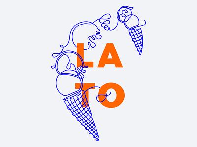 🍦LATO ⛱ poster typography branding blue design linear 插图 vector illustration iteo summer
