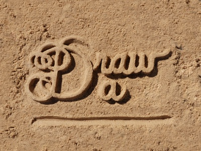 Draw a Line.. type typography lettering idiom sandlettering sand handlettering