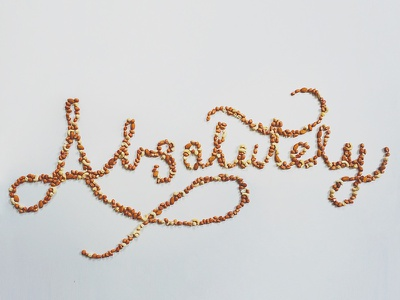 Absolutely #nuts typography typografood type lettering handlettering food nuts