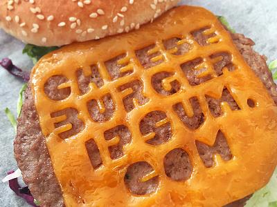 Cheeseburgeripsum.com delete edit typography typografood type burger cheese cheeseburger lettering handlettering food