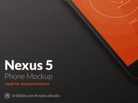 Nexus 5 Mockup PSD by KreativaStudio
