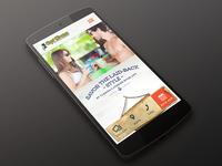 Hotel Website Mobile version