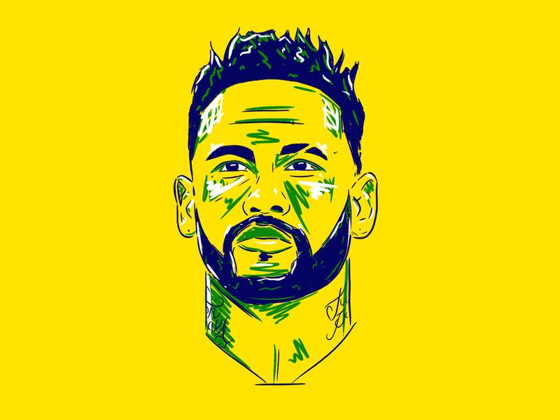 Neymar Jr mockup art streetart graffiti art football illustration
