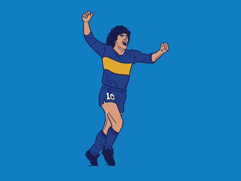 Diego illustrator argentina design colour illustration football boca maradona