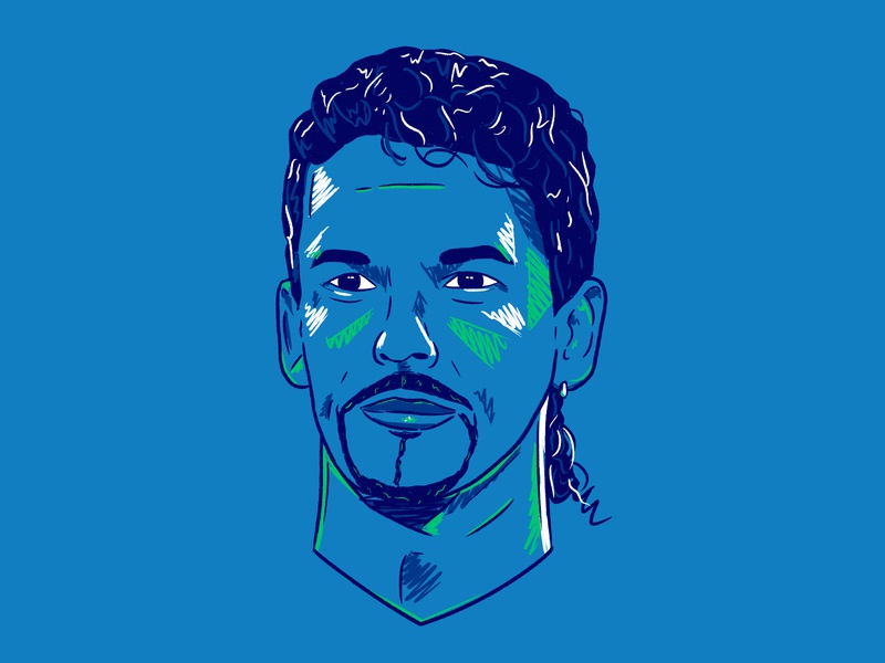 Baggio art sport design colour football illustration italia90 worldcup italy