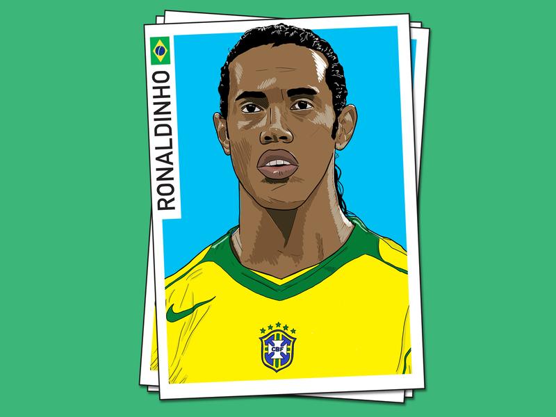 Ronaldinho ronaldinho illustrator brasil sport football illustration