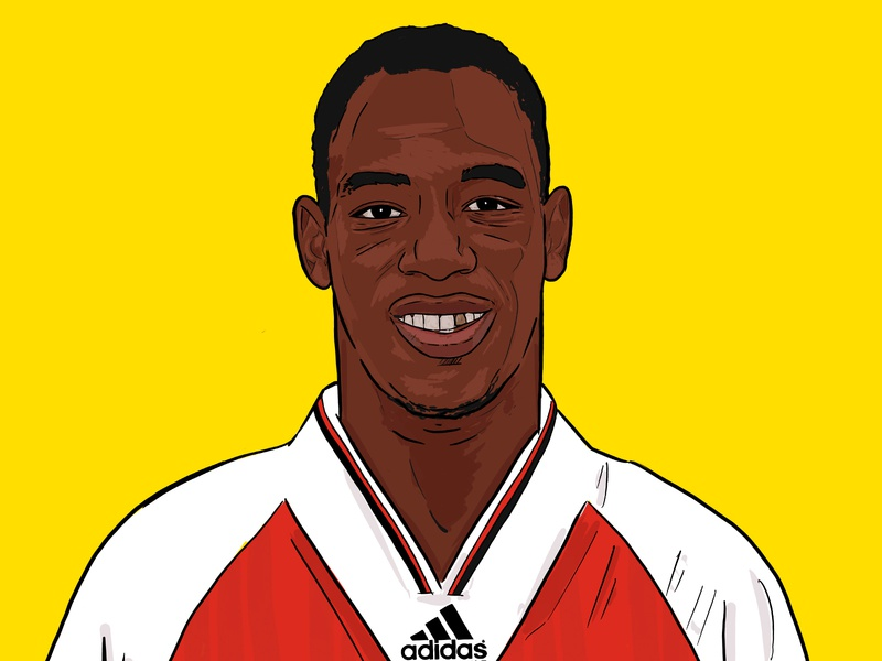 Ian Wright design sport football illustration premier league adidas arsenal wright