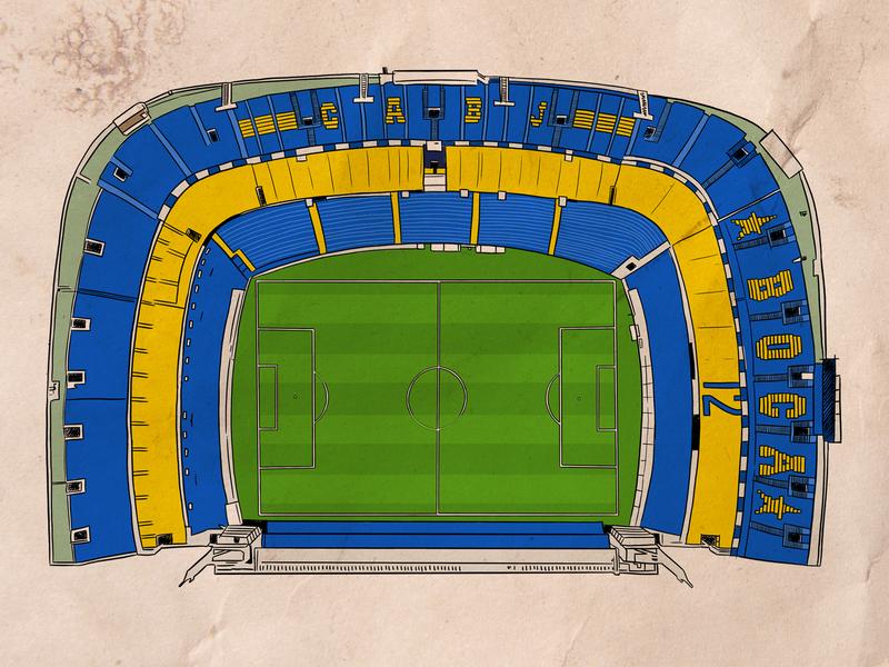 La Bombonera draw design sport football illustration argentina
