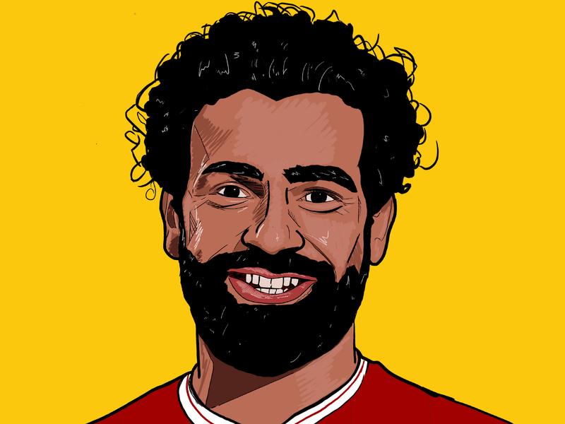 Salah design sport football illustration premier league liverpool fc liverpool