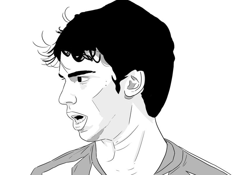Félix portrait design sport football illustration wip draw madrid