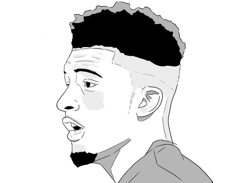 Sancho nike art wip design sport football illustration dortmund