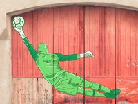 Ter Stegen design sport football illustration streetart graffiti nike barcelona