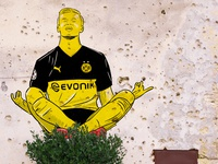 Håland puma design sport football illustration streetart graffiti dortmund bvb haaland