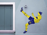 Ibrahimović colour design sport football illustration streetart graffiti nike sweden zlatan