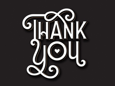 Thank you lettering calligraphy type font typography thank you