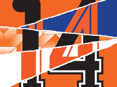 Holland 14 collage lines shapes pattern 14 orange dutch football holland