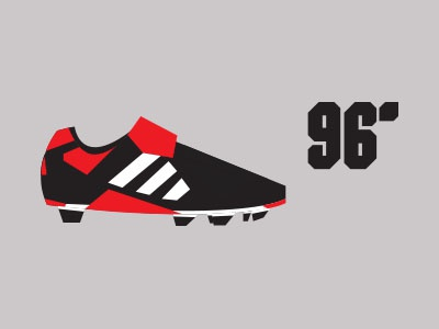 Predator 96' colour boot footwear sport illustration vector shapes minimal adidas