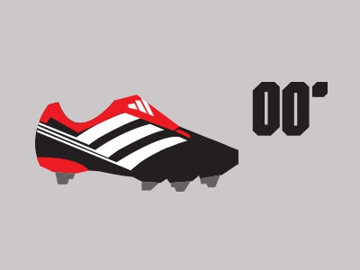 Predator 00' colour boot footwear sport illustration vector shapes minimal adidas