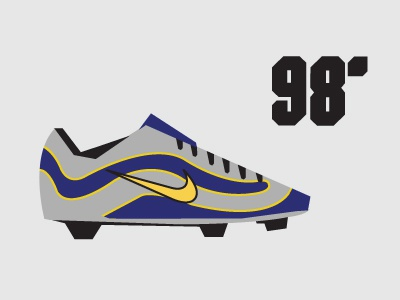 98' Nike Mercurial minimalist Illustration shapes simple vector design minimalist ronaldo r9 nike football nike