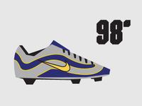 98' Nike Mercurial minimalist Illustration