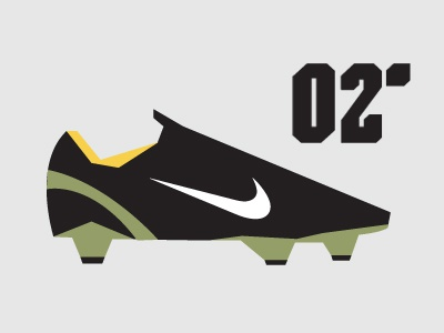 02' Nike Mercurial Vapor minimalist Illustration shapes simple vector design minimalist ronaldo henry nike football nike