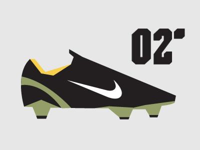 02' Nike Mercurial Vapor minimalist Illustration shapes simple vector design minimalist ronaldo henry nike football nike