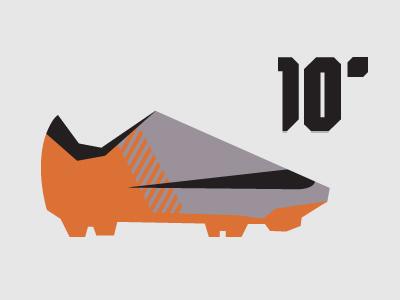 10' Nike Mercurial Vapor Superfly II minimalist illustration shapes simple vector design minimalist ronaldo nike football nike