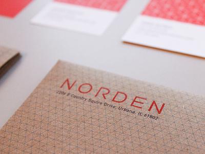Norden branding identity logo stationary pattern
