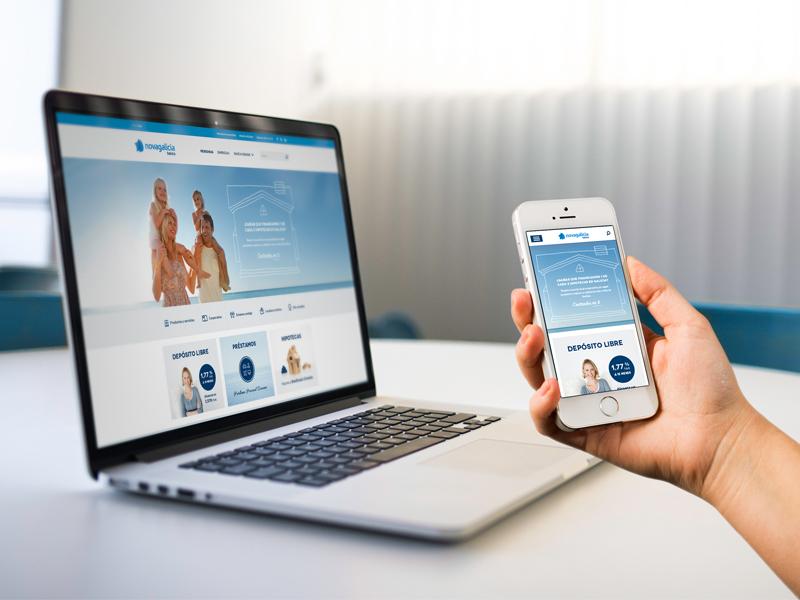 Novagalicia Banco Proposal ui ux rwd responsive responsive web design user experiences bank banco mobile tablet desktop