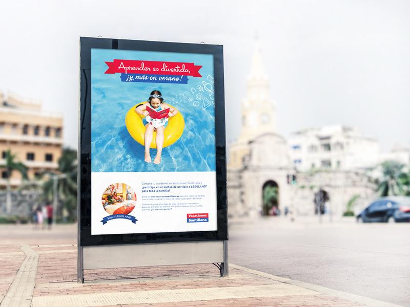 Vacaciones Santillana - 2014 ads web billboard bus summer mobile print catalogues brochures books campaign art direction