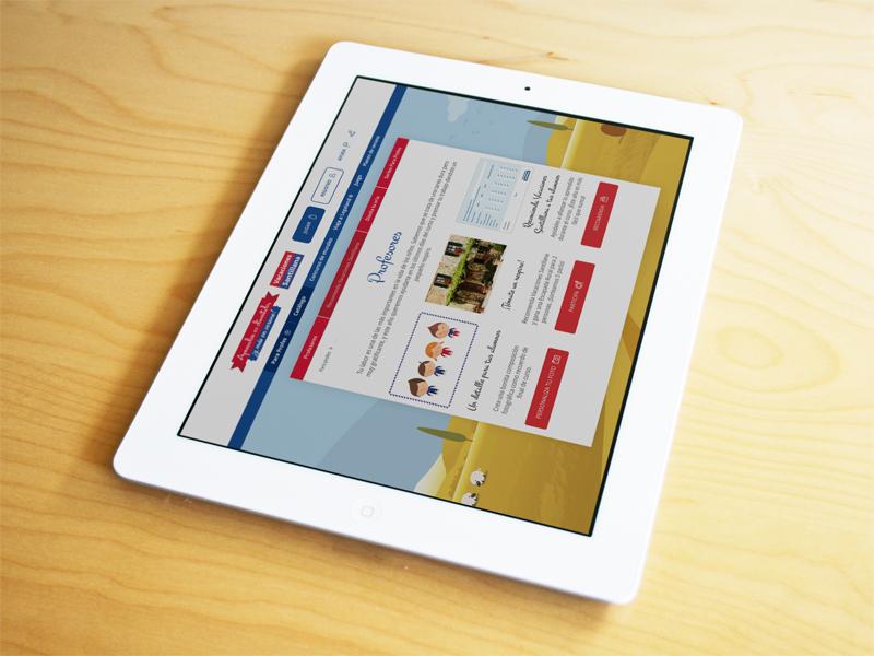 Vacaciones Santillana Web 2014 web tablet mobile newsletter banner ads digital campaing summer 2014
