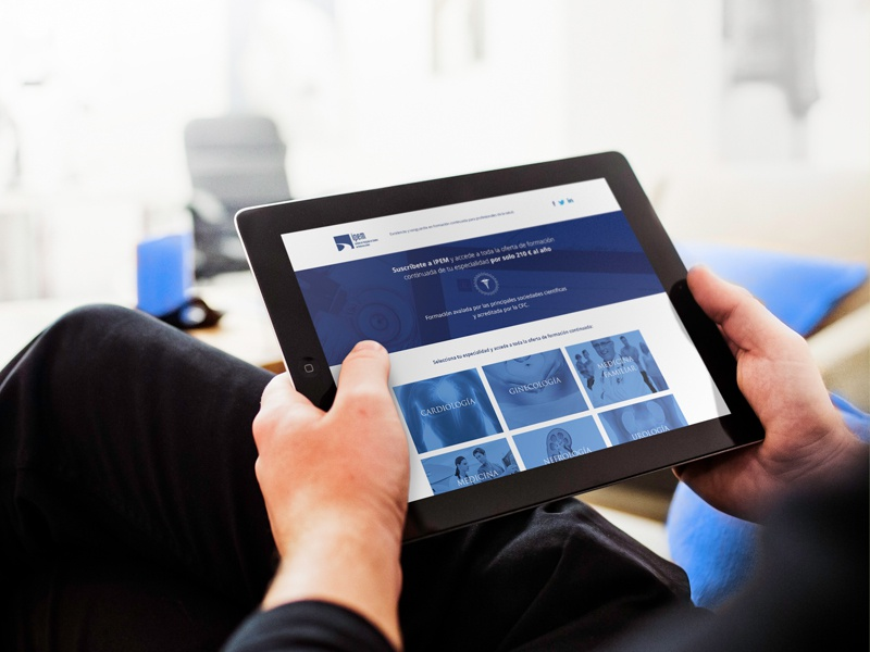 Ipem Especialidades Landing ui ux rwd responsive responsive web design user experience medical medicine mobile tablet desktop