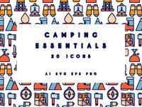 Camping essentials set