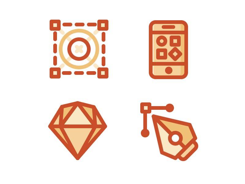 Uipie icons flat style ui kits set site icons vector ai ui sketch pie