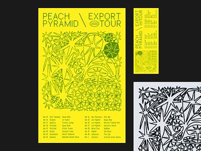 Peach Pyramid \ Export Tour print illustration graphic design poster