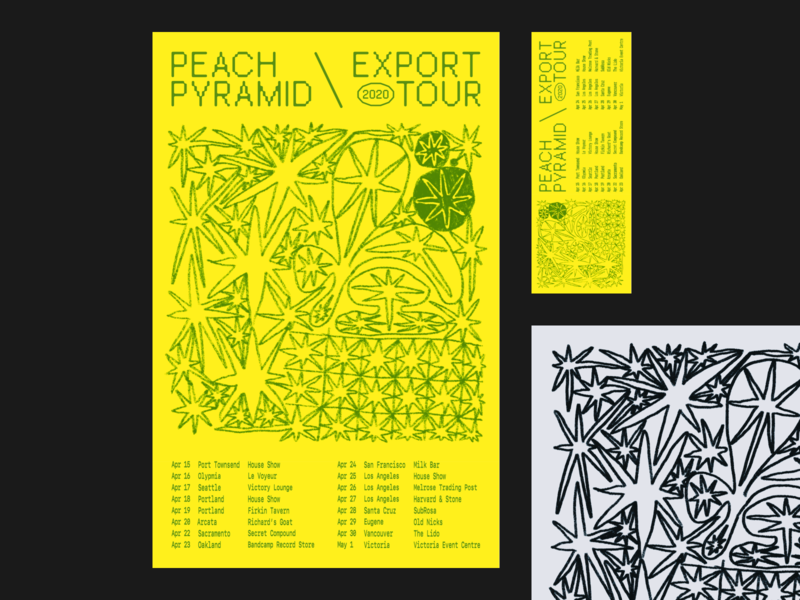 Peach Pyramid \ Export Tour print illustration graphic design poster